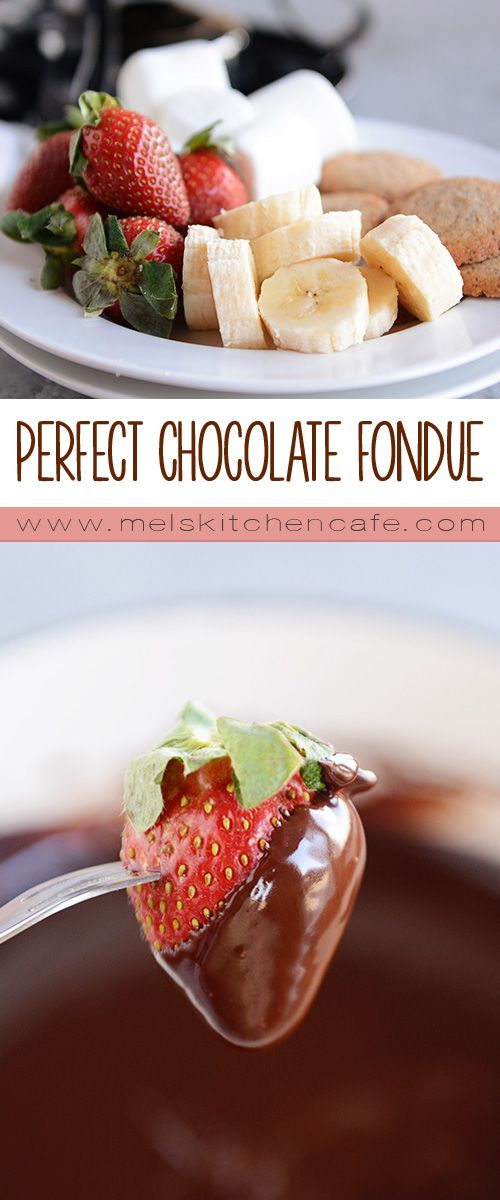 Chocolate Fondue Rich Creamy Perfect Mel S Kitchen Cafe Recipe Chocolate Fondue Recipe Fondue Recipes Food