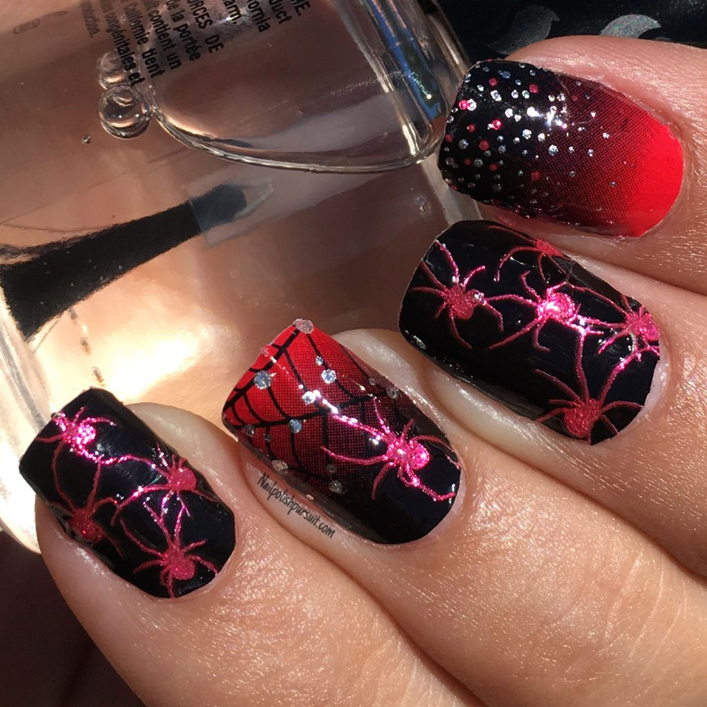 KISS Nail Dress Spiders Nail Strips || Nailpolishpursuit.com ...