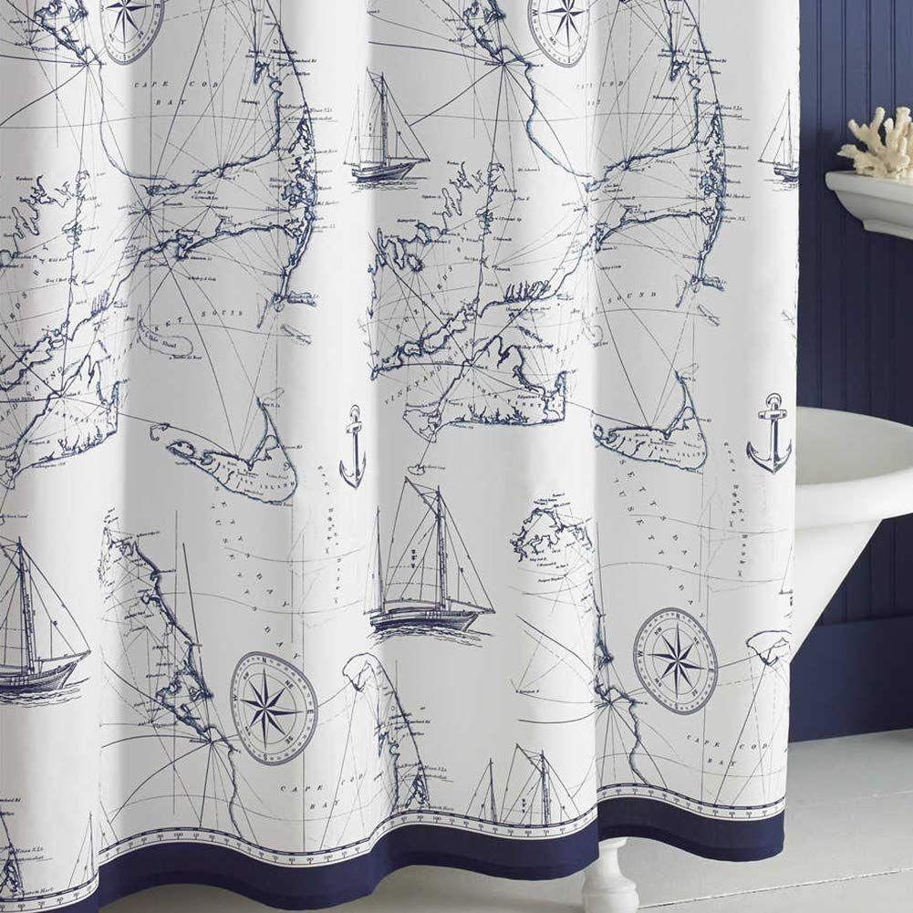Amazon Com Ds Bath Aviation Nautical Shower Curtains Mildew