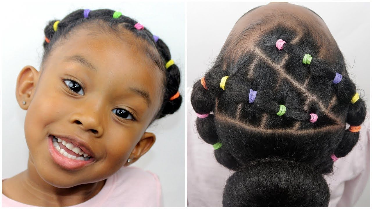 Easy 10 Minute Rubber Band Hairstyle  Hair Tutorial for Little