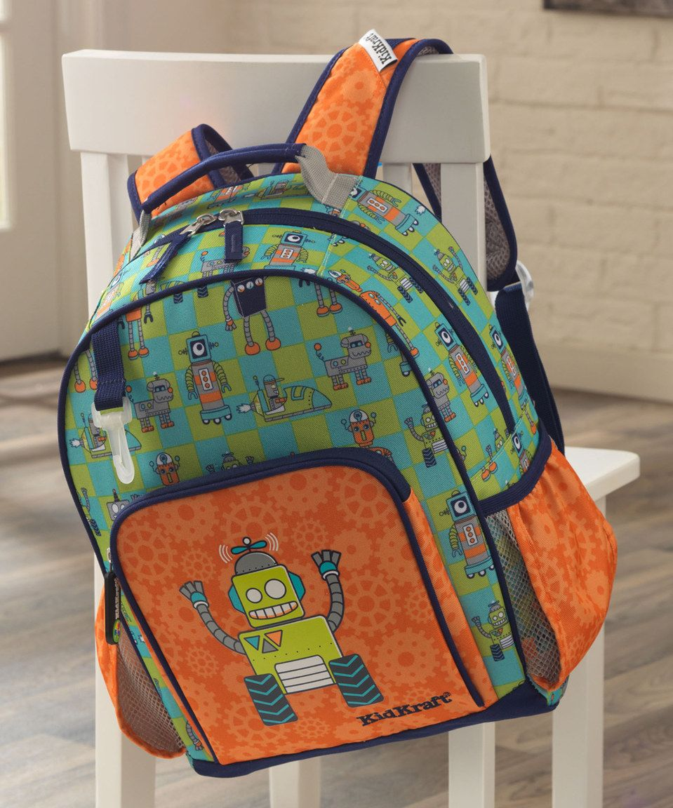 This Robot Medium Backpack by KidKraft is perfect!  zulilyfinds ... 2b7a652431527