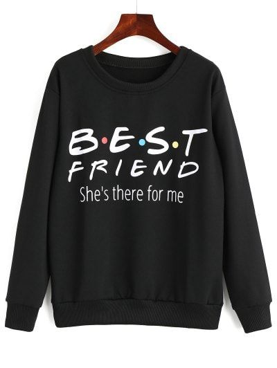 SHARE & Get it FREE | Letter Printed Drop Shoulder Sweatshirt - Black LFor Fashion Lovers only:80,000+ Items • New Arrivals Daily Join Zaful: Get YOUR $50 NOW!