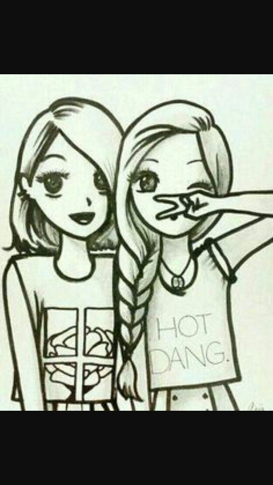 Pin By Day Ale On Amigas Hermanas Drawings Of Friends Bff