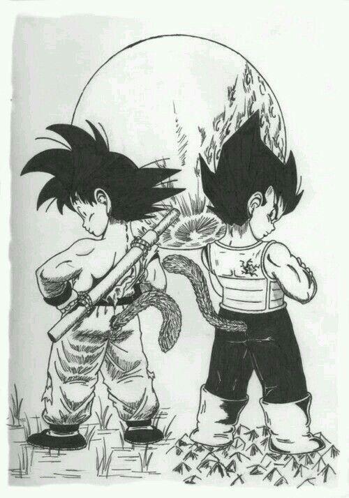 Vegeta y Goku de niños!!♡♡♡