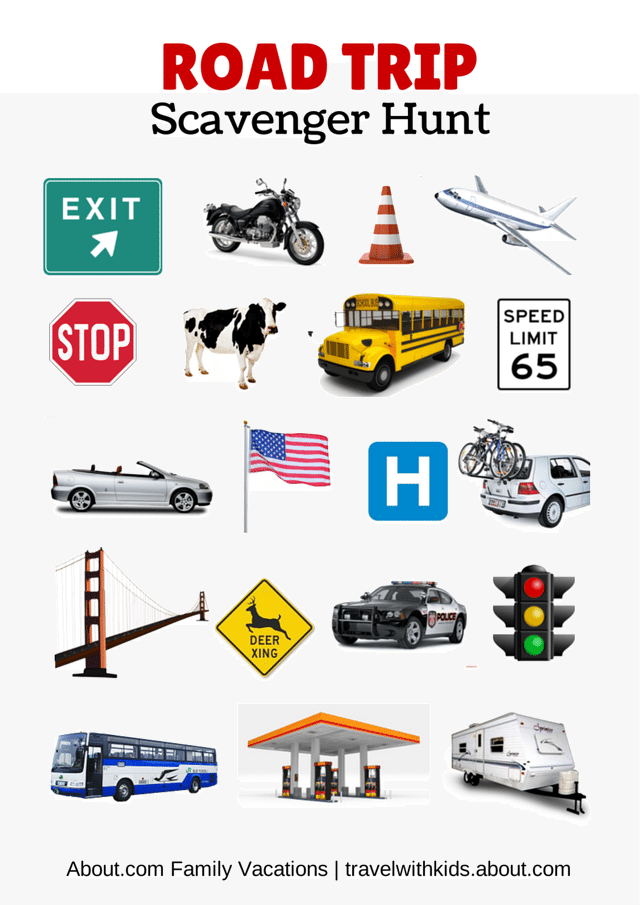 Free Printable Travel Games for Kids Road trip with kids