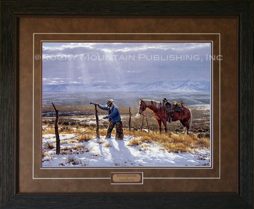 Fence Mender | Clark Kelley Price | Cowboy Artists of America ...