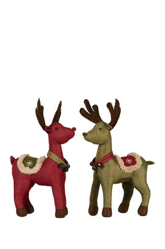 Large Spruce Pine Plush Deers - Set of 2 from HauteLook on Catalog Spree