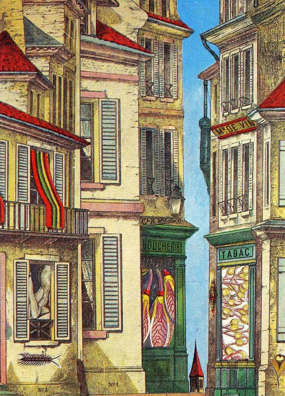 "artist-ernst: ""Commonplaces - Where to Unwind the Spool, 1971, Max Ernst Medium: collage, paper"""