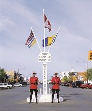 Dawson Creek Bc Mile 0 Post Alaska Highway