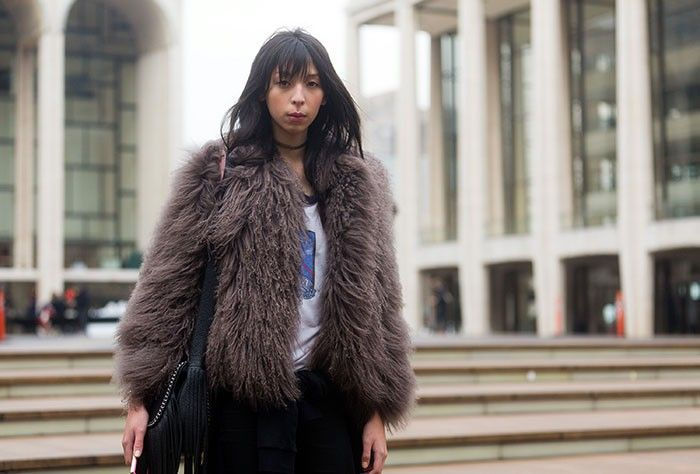 #IssaLish having a fur moment. #offduty in NYC.