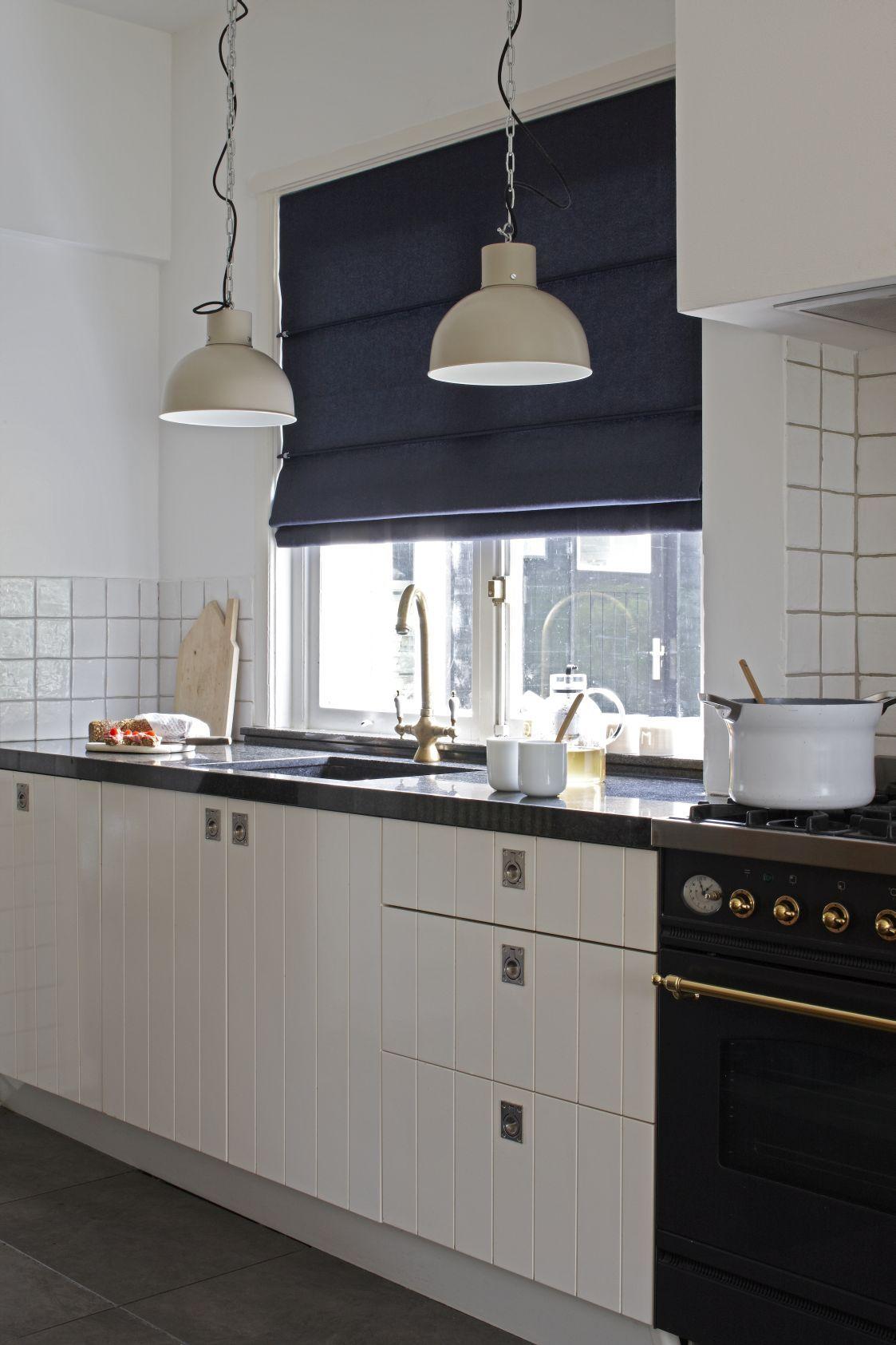 Kitchen window roman blinds  pin by brigitte van on gordijnen  pinterest  window and kitchens