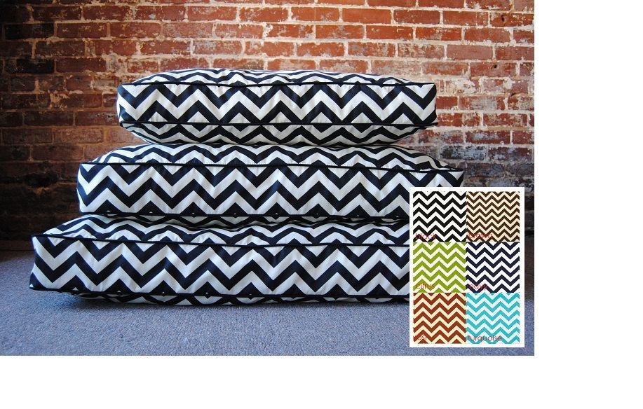 Large Chevron Dog Bed 36 x 42 by MarthaAndAsh on Etsy