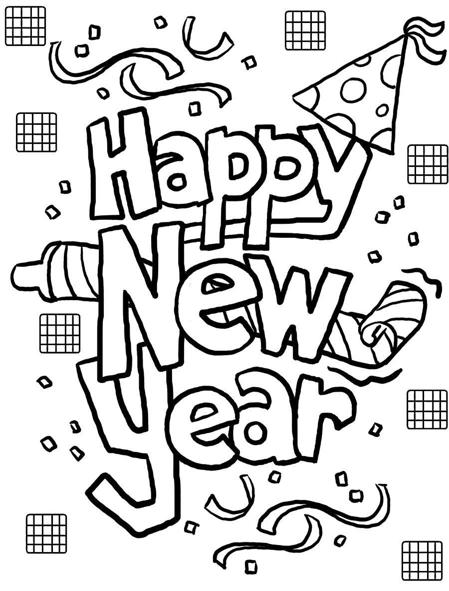 New Year Cards Coloring Page Kinderfarben Ausmalbilder Zum Ausdrucken Malvorlagen