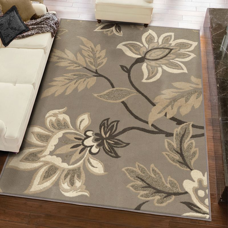 Carolina Weavers Finesse Collection Floweret Grey Area Rug