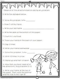 april fools day freebie a following directions prank classroom ideas april fools april. Black Bedroom Furniture Sets. Home Design Ideas
