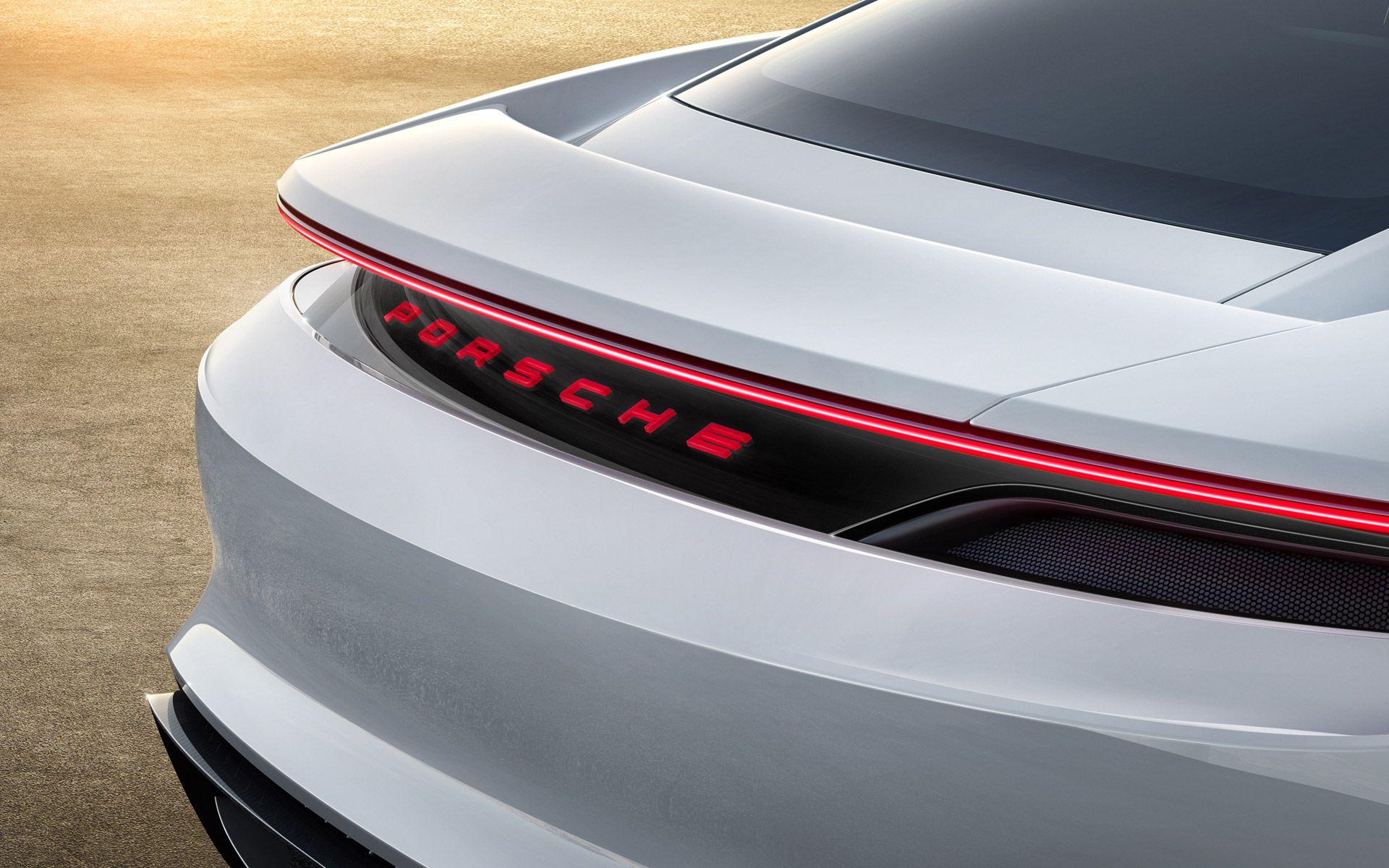 Porsche Mission E Concept Electric Car Logo