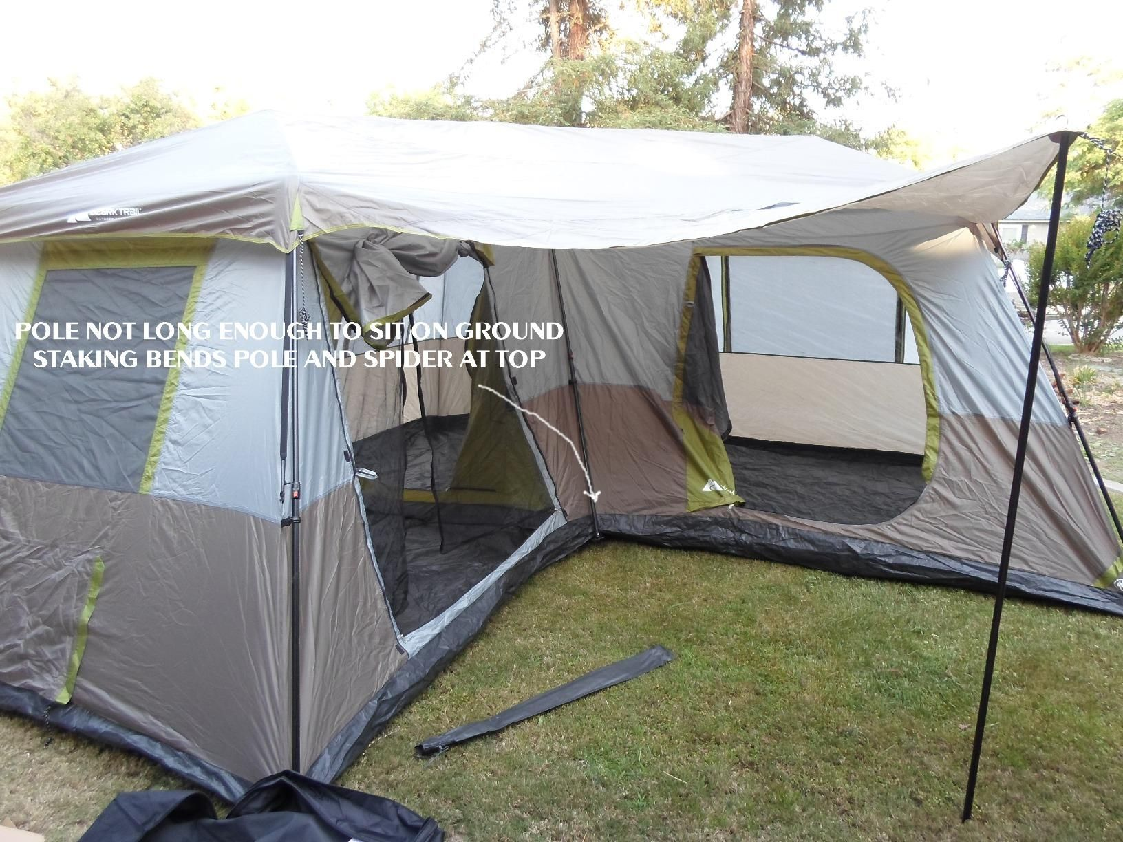 Amazon.com  Ozark Trail 16x16-Feet 12-Person 3 Room Instant Cabin : ozark trail 12 person cabin tent - memphite.com
