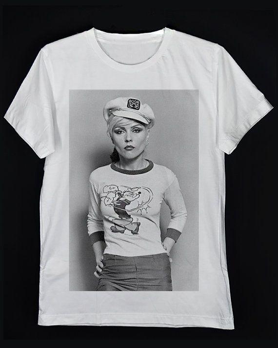 f70099ef Debbie Harry Popeye Blondie Band Deborah Ann Harry Rocker White Crew Neck  Unisex T-Shirt S-XXL