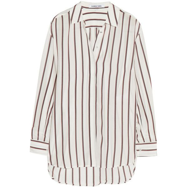 8f65389cae7508 Elizabeth and James Sade striped silk shirt (€245) ❤ liked on Polyvore  featuring tops