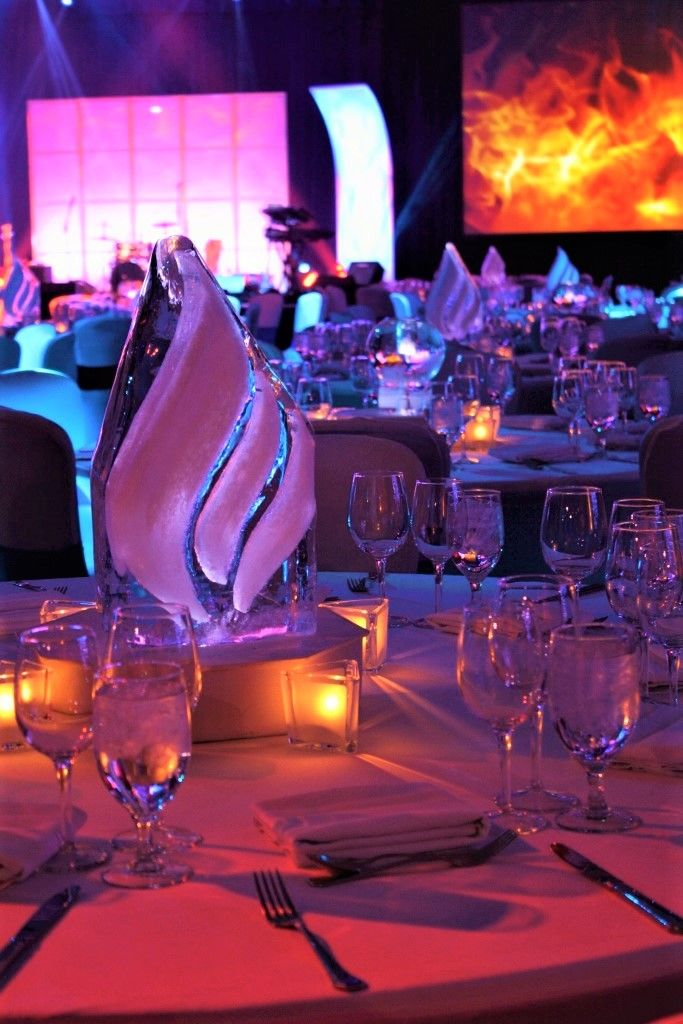 The Perfect Centerpieces For A Fire And Ice Themed Awards
