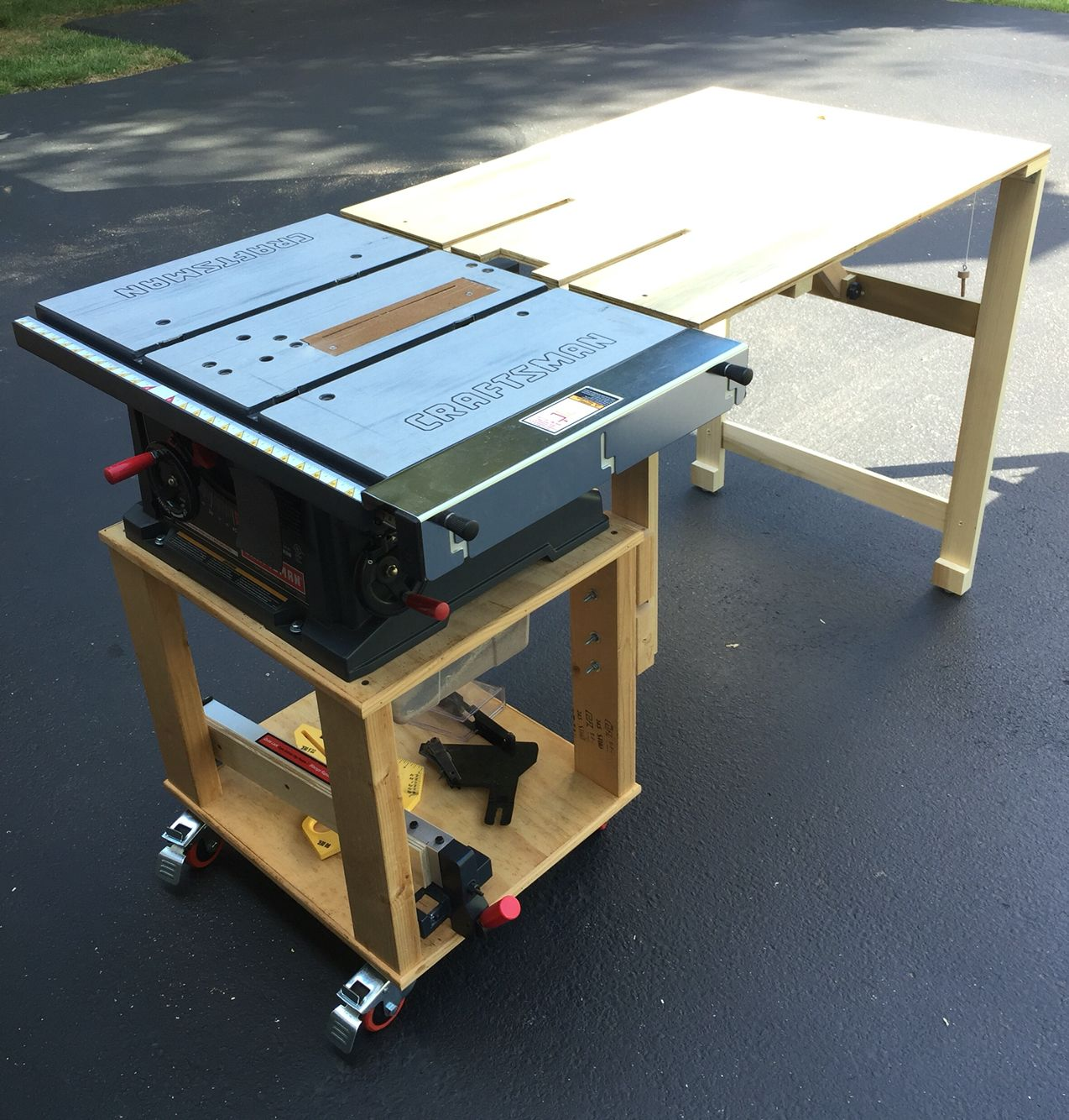 out feed table for a 10 yr old craftsman portable table saw