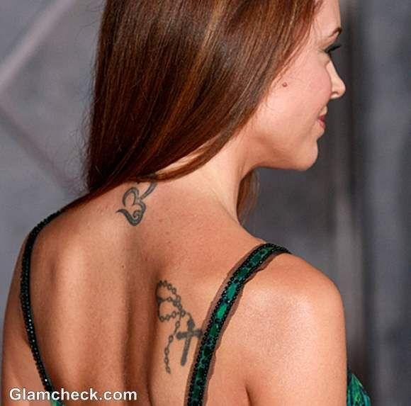 Alyssa Milano Neck Shoulder Tattoos Their Meaning Celebrity