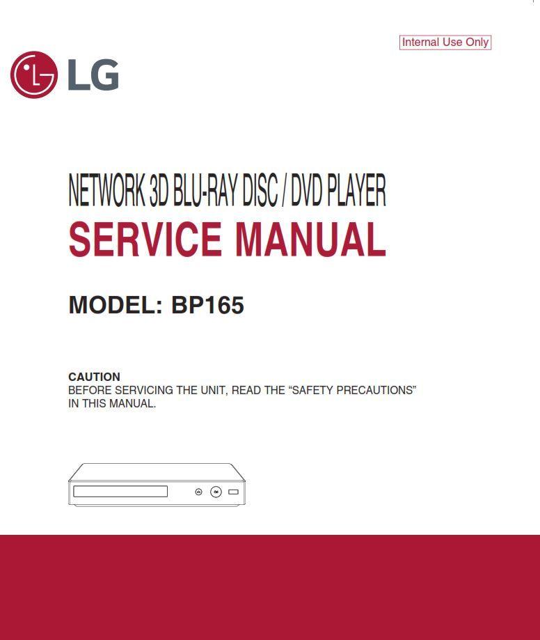 Lg Bp165 3d Blu Ray Player Service Manual And Repair Guide Blu Blu Ray Manual