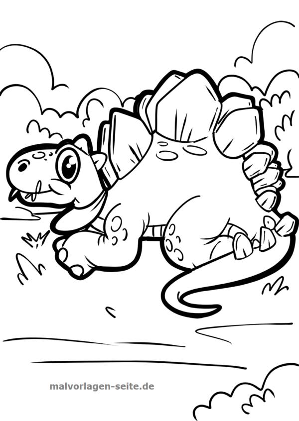 Malvorlage  Ausmalbild Dinosaurier - Malvorlagen