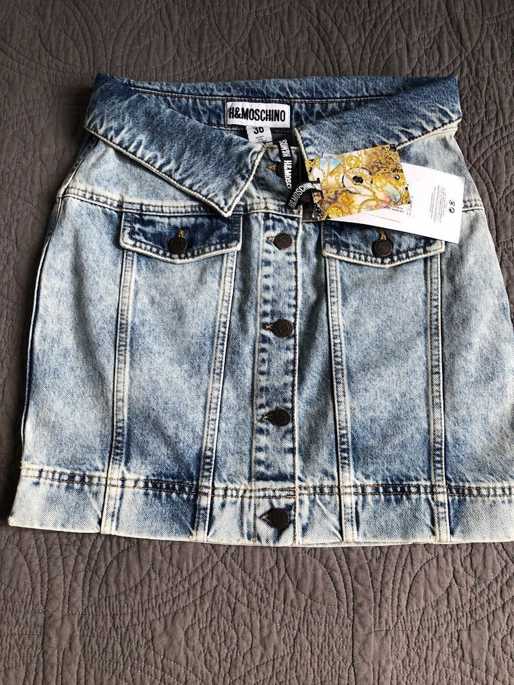 e7a9f4b6c46 H M MOSCHINO DENIM MINI SKIRT SIZE 4 EU 36 BNWT  IN HAND  fashion  clothing   shoes  accessories  womensclothing  skirts (ebay link)