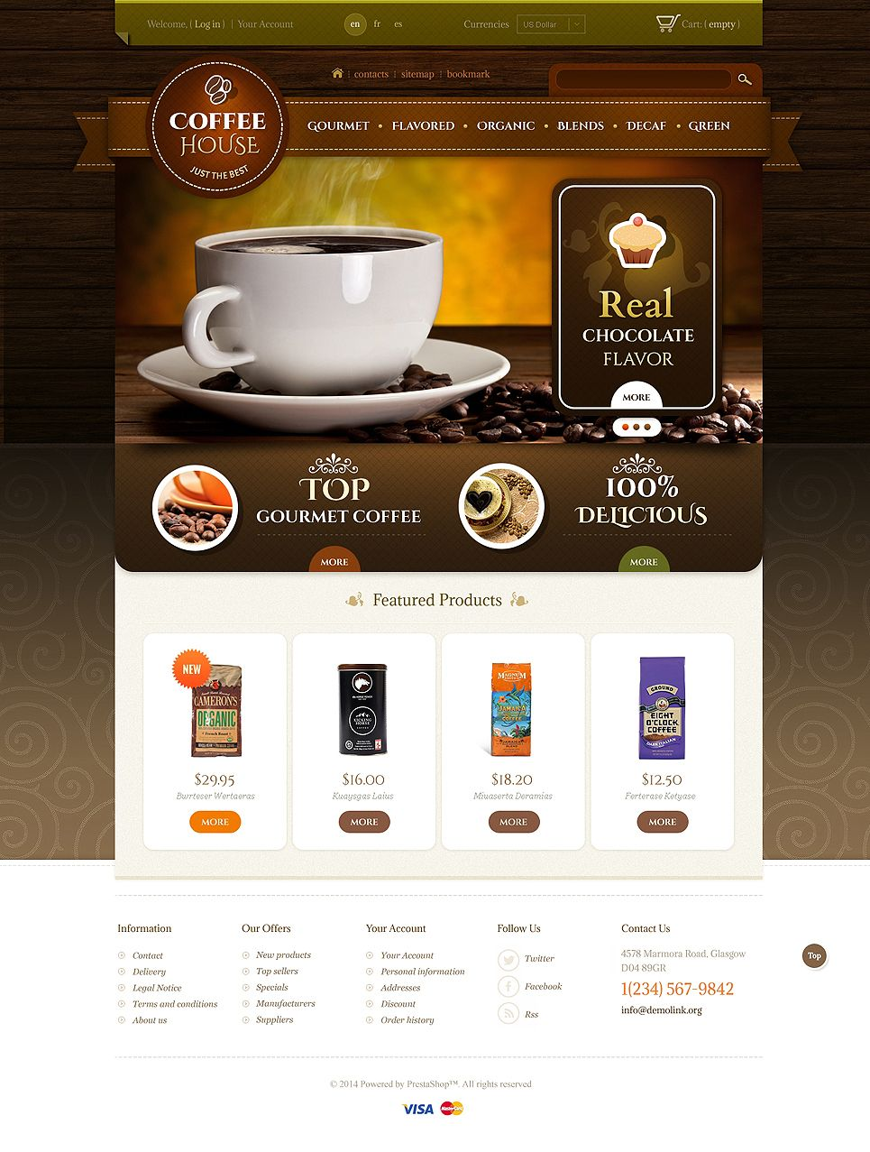 Coffee Shop Psd Template 49556 Psd Templates Coffee Shop