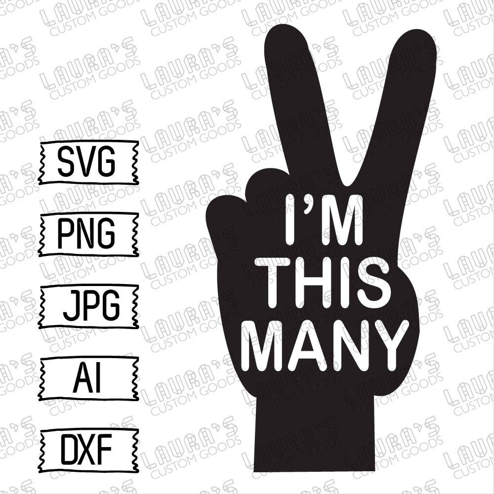 i'm this many svg