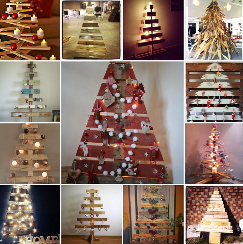 25 Ideas Of How To Make A Wood Pallet Christmas Tree Home For The