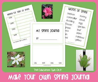"Make your own spring journal as you ""Hunt for Spring"""