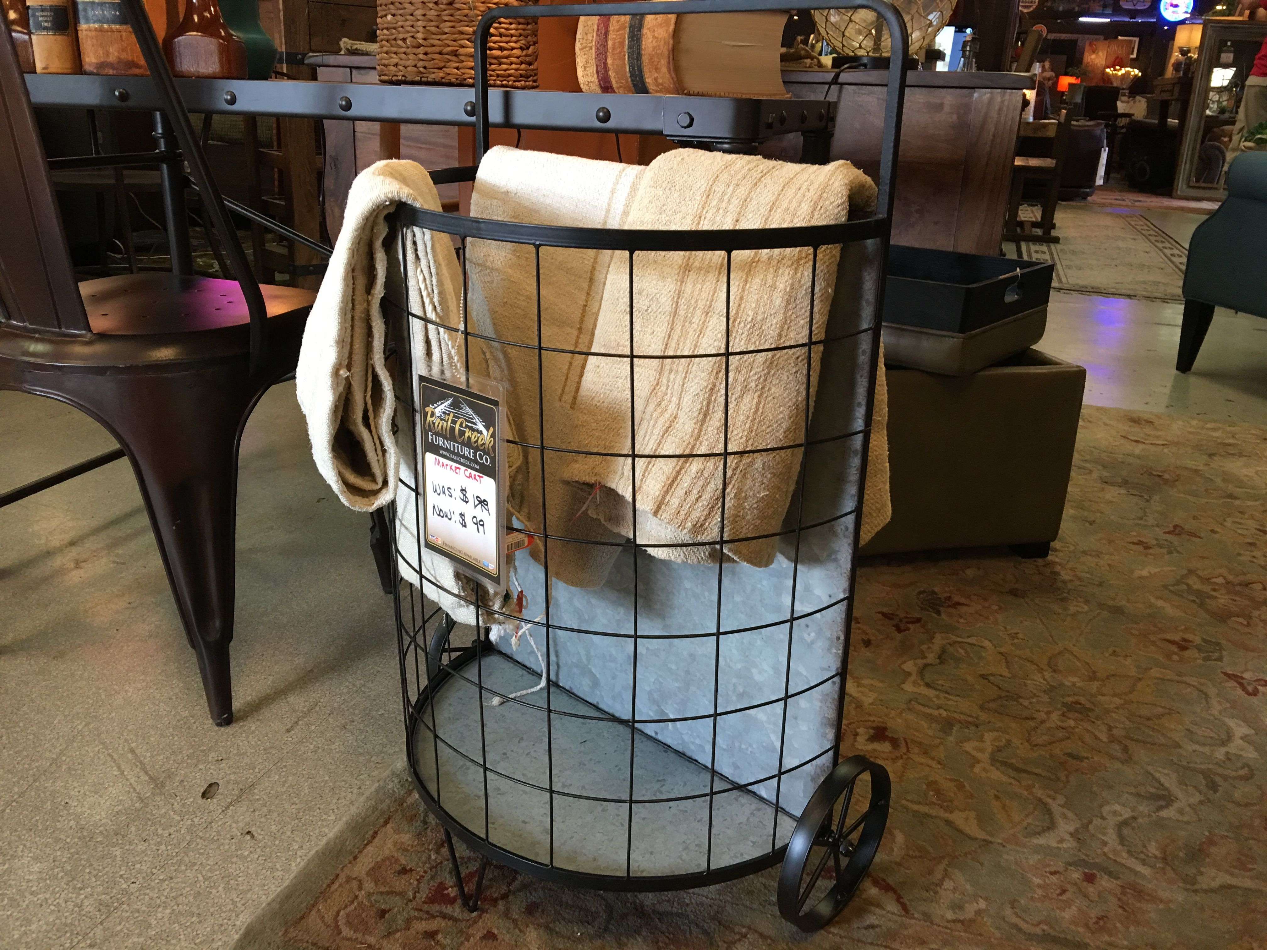 Fun Rustic Landry Cart Rail Creek Furniture Co