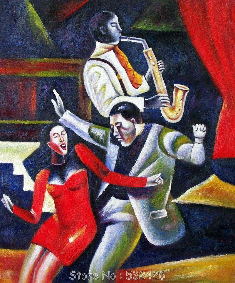 Jazz Wall Art Wall Art Promotion Shop For Promotional Hotel Decorative Wall Art Dance Paintings Jazz Music Art Jazz Art