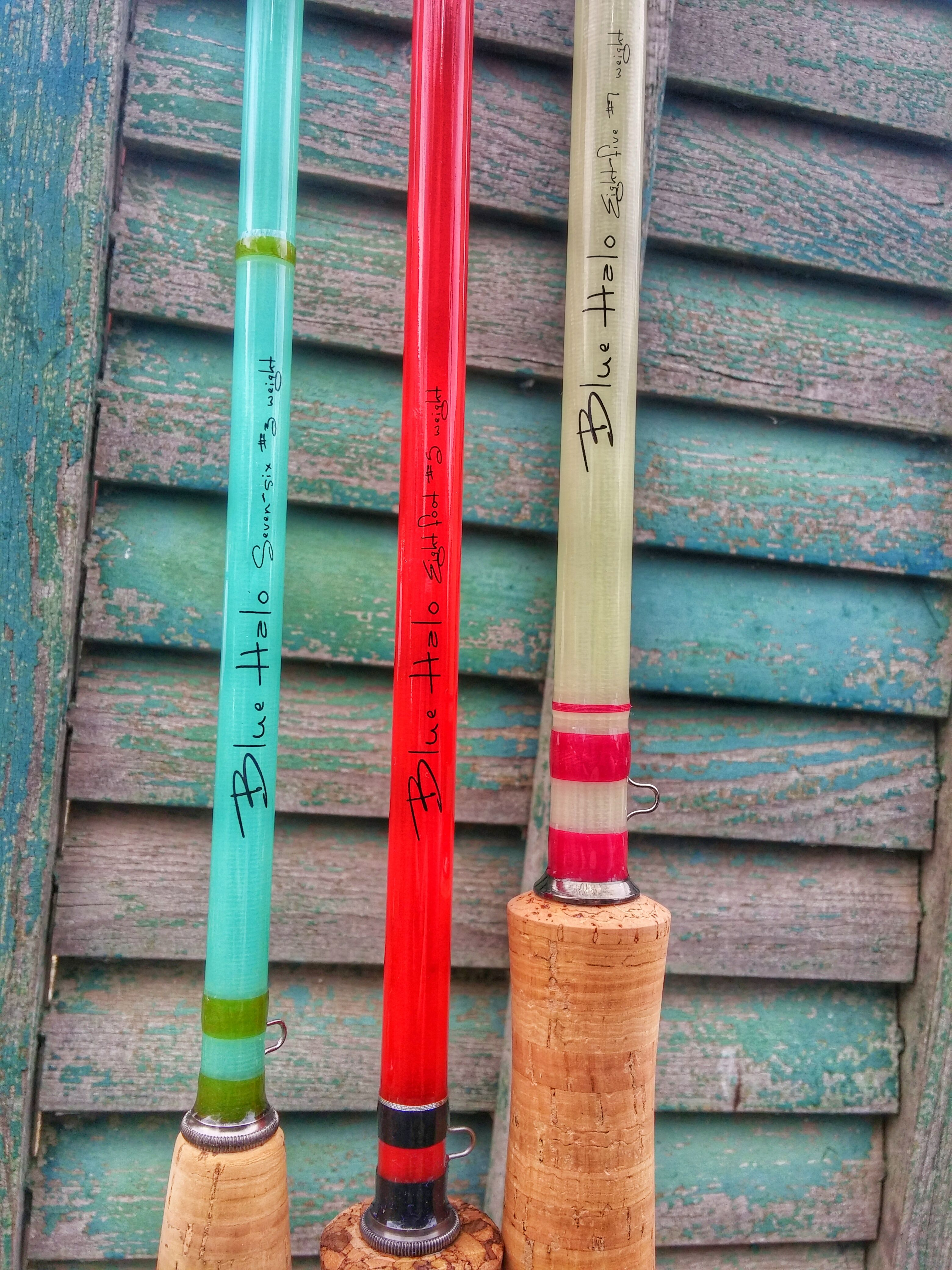 My personal fiberglass rod collection blue halo jade 3wt for Halo fishing rods