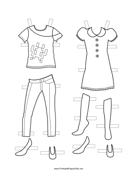 These fun Girl Paper Doll outfits are great for spring and
