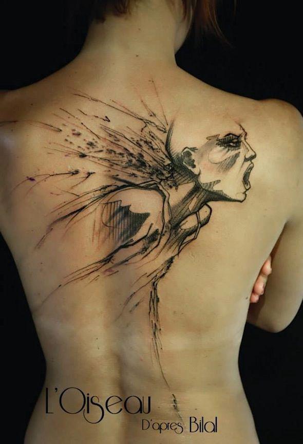 tattoo by l 39 oiseau tatoo pinterest oiseaux et tatouages. Black Bedroom Furniture Sets. Home Design Ideas