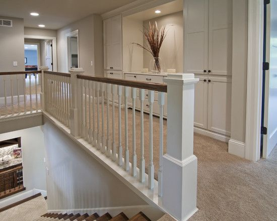 Edina Cape Cod Open At Top Of Stairs Upstairs Hallway