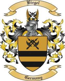 Biegel Family Crest from Germany