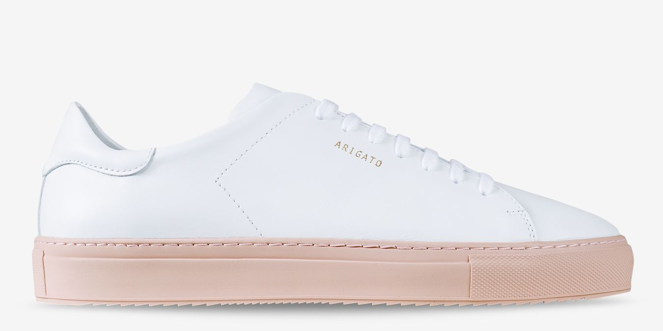 Clean In White Rubber And 90 Sole Cup Pink Arigato Axel Leather oerdxCB