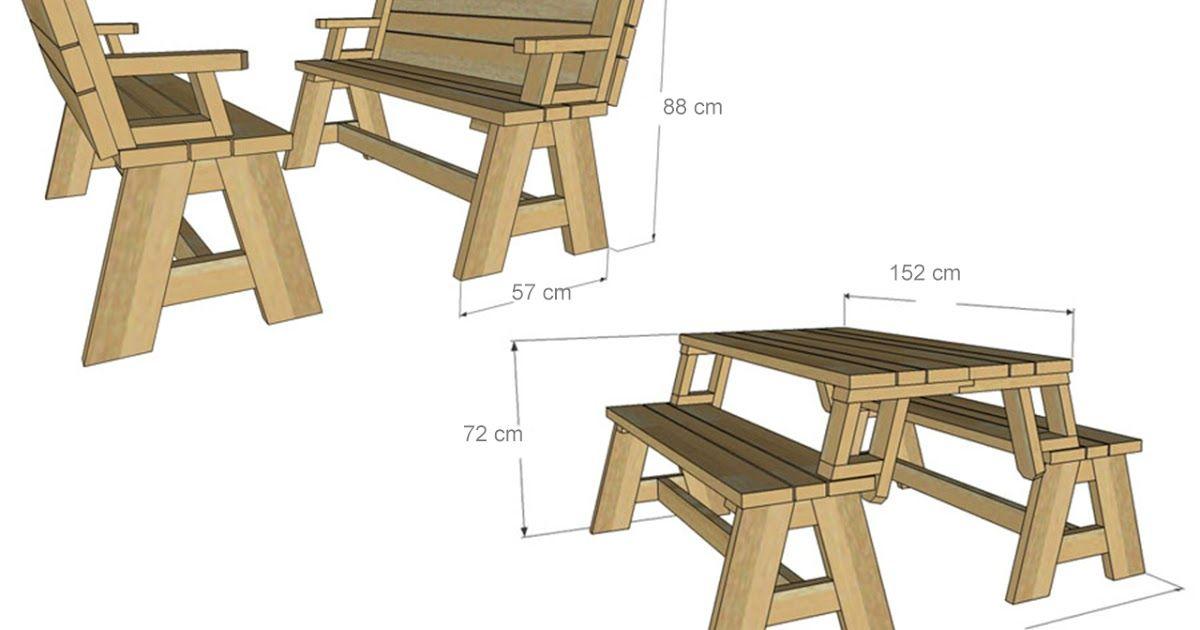 Progetto Tavolo Da Giardino.Costruire Una Panca Che Diventa Tavolo Tavoli Da Picnic Panca