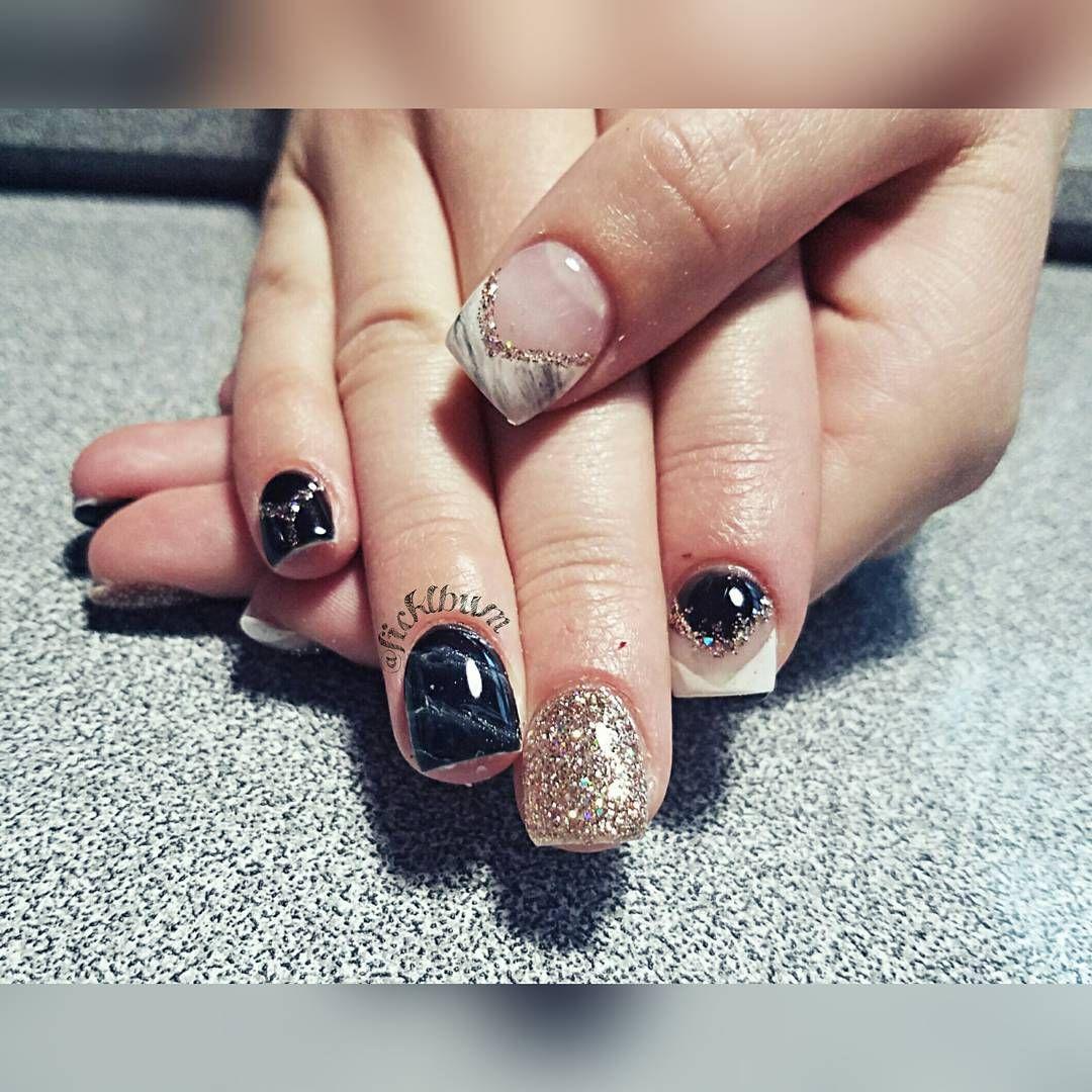 "40 Likes, 1 Comments - Kerrie Ficklin (@nailsbykerrie) on Instagram: ""@ryleedelrey :) #marblenails #inspiredby @scarlettsnails and @celinaryden #gelnails #classynails…"""