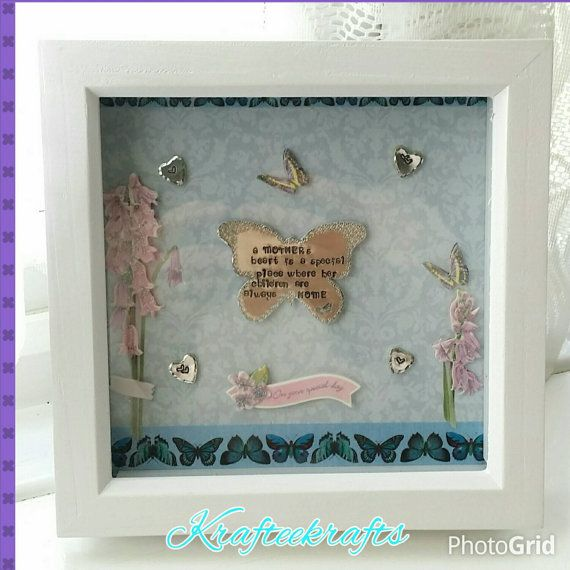 These can easily be customised to your colour choice and wording.  Check out this item in my Etsy shop https://www.etsy.com/uk/listing/227783642/butterfly-framed-keepsake-large-box
