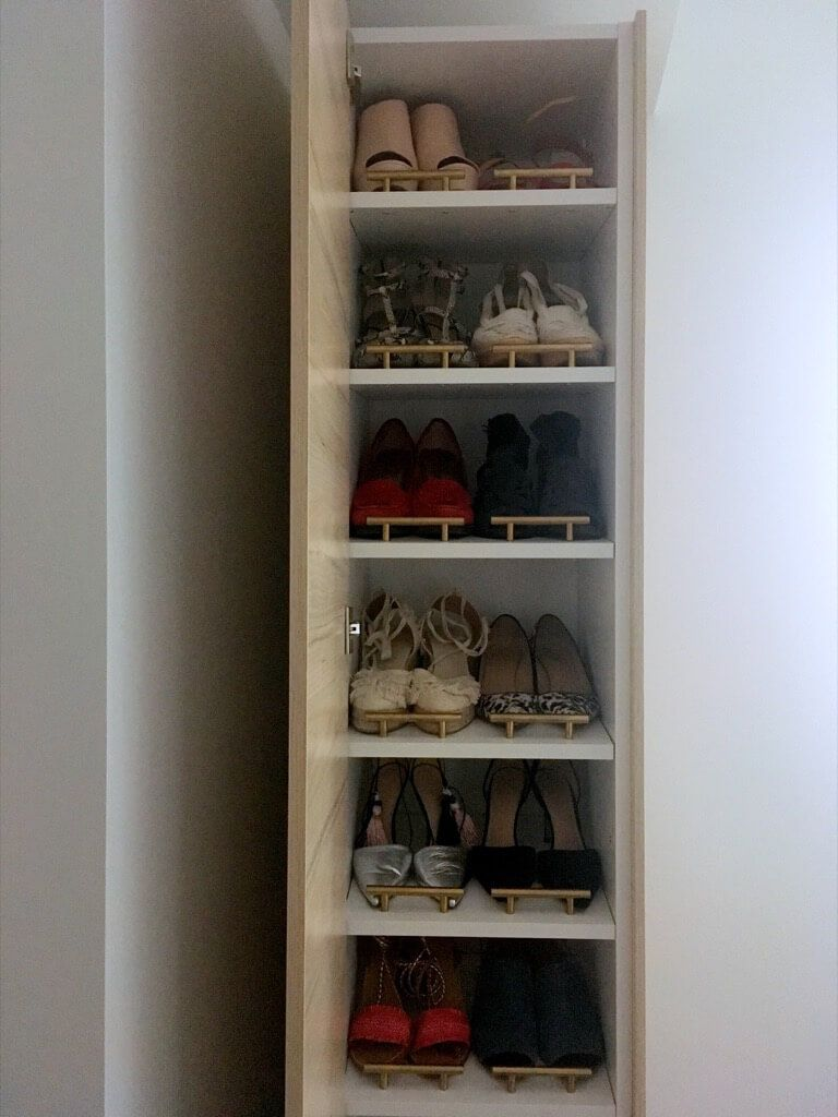 A Classy Tall Shoe Cabinet To Fit Small Entryways Ikea Hackers Shoe Cabinet Diy Shoe Storage Shoe Rack
