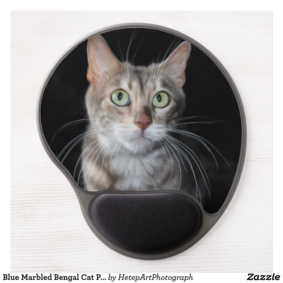 Blue Marbled Bengal Cat Photograph Gel Mouse Pad Zazzle