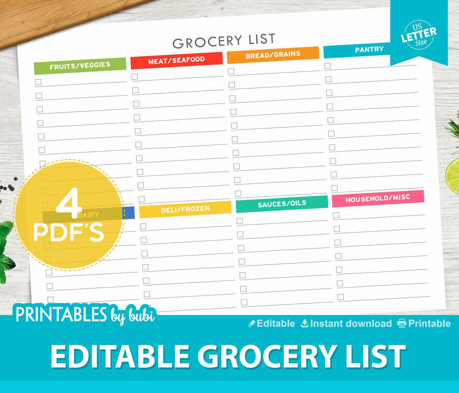 grocery list printable, shopping list, printable grocery list
