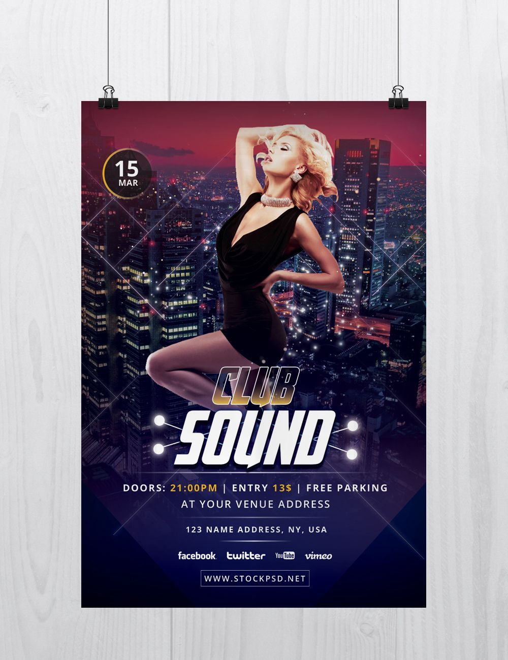 Club Sound Is Free Psd Photoshop Flyer Template To Download This