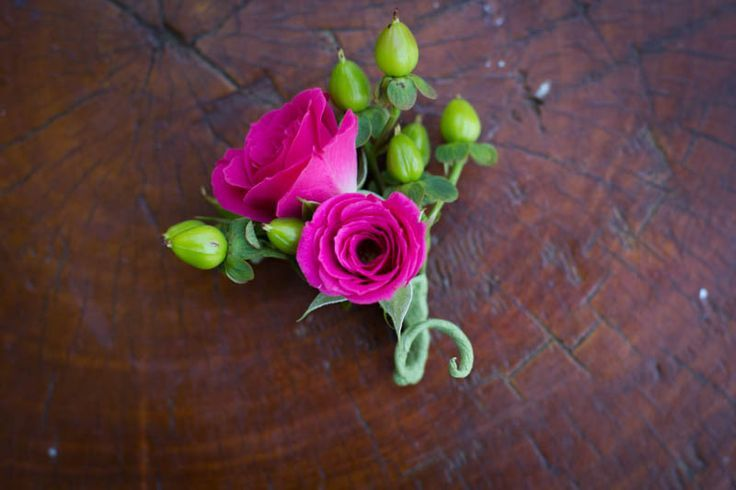 hot pink flowers coursage - Google Search