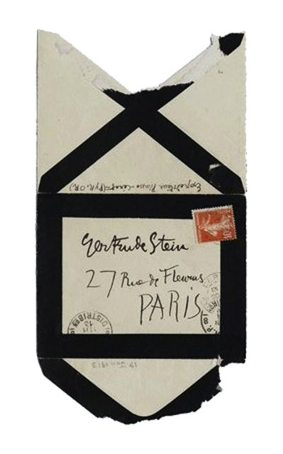 Picasso Envelope (to Gertrude Stein)